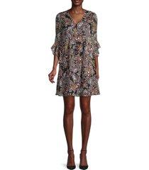 calvin klein women's paisley-print slip dress - black multicolor - size 2