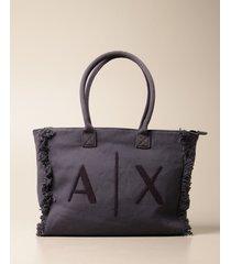armani collezioni armani exchange shoulder bag armani exchange shopping bag with logo