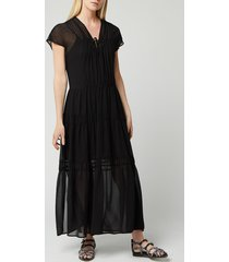 see by chloé women's v-neck maxi dress - black - eu 40/uk 12