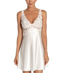 linea donatella lace charmeuse chemise nightgown