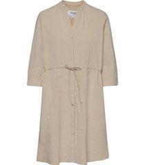 slfmalvina-damina 3/4 dress knälång klänning beige selected femme