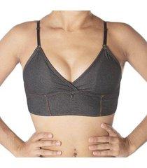 sutiã econfort top cropped bojo removível juvenil linha glitter feminino - feminino