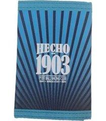 billetera racing rayas - ra153