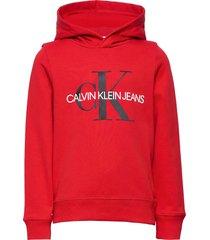 monogram hoodie hoodie trui rood calvin klein