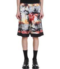 laneus shorts in multicolor silk