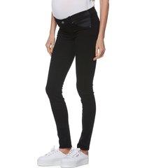 women's paige 'transcend - verdugo ultra skinny maternity jeans, size 28 - black