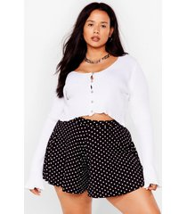 womens haven't spot a clue plus high-waisted shorts - black
