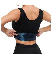 colete camiseta regata redutor de medidas para mulheres emagrecimento rápido preto