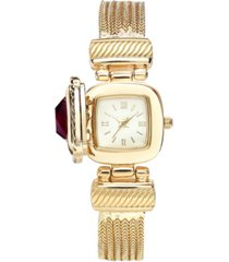 charter club women's stone case cover chain bracelet watch 25mm, created for macy's