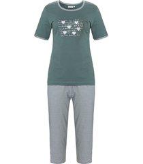 dames pyjama pastunette 20211-136-3 groen-52