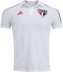 camisa polo do são paulo 2020 adidas - masculina - branco
