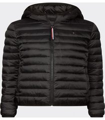 chaqueta essential acolchada reversible negro tommy hilfiger