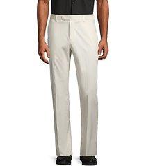 button front stretch-cotton pants