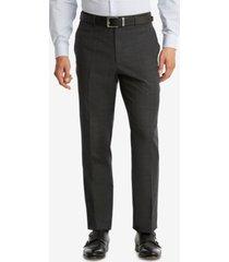 tommy hilfiger men's modern-fit th flex performance plaid wool suit pants