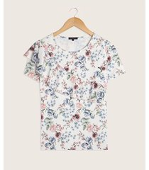 camiseta con bolero diagonal estampada