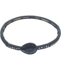 pulseira armazem rr bijoux gota preta - feminino