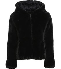 eco fur and nylon reversible down jacket i save the duck