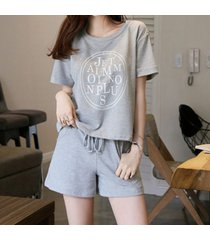 camiseta de manga corta de algodón dulce coreano estudiante lindo suelto dos piezas de gran tamaño