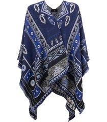 etro jacquard cape with paisley motifs