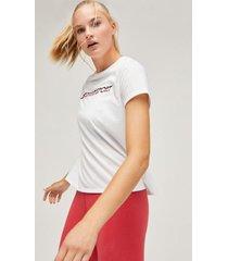 polera t-shirt chest logo blanco tommy sport