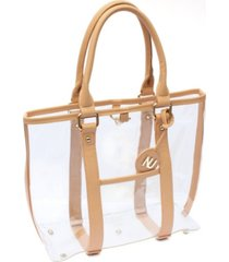 nu women molly carryall clear tote
