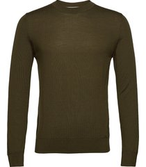 flemming crew neck 3111 stickad tröja m. rund krage grön samsøe samsøe