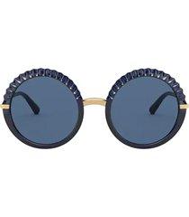dolce & gabbana dolce & gabbana dg6130 opal blue sunglasses