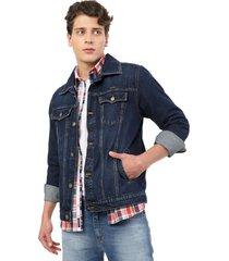 s5805 chaqueta jean hombre azul medio