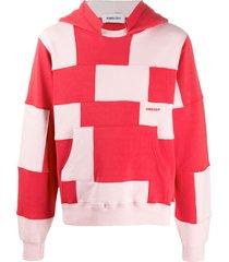 ambush patchwork hoodie - red