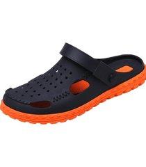 sandalias de malla cómodas para hombres-azul