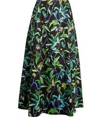jason wu women's printed poplin a-line skirt - black multi - size 0