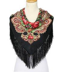 110m donne retro grande stampa quadrata nappe autunno inverno sciarpa casual cotone caldo scialle
