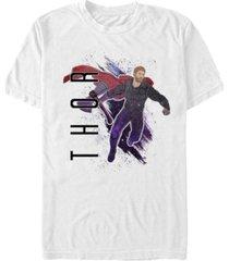 marvel men's avengers galaxy painted thor short sleeve t-shirt