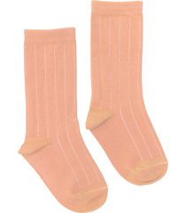 women's nico rib plant dyed organic cotton socks, size one size - pink