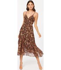 laurel dress sepia floral