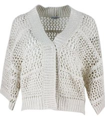 brunello cucinelli cardigan sweater with micro sequins
