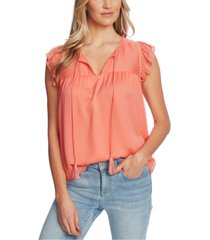cece ruffled-sleeve tie-neck top