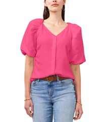 vince camuto v-neck puff-sleeve blouse