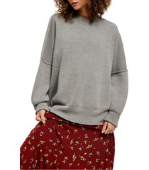 free people easy street tunic, size medium in heather grey at nordstrom