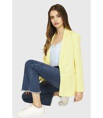 blazer botones decorativos amarillo claro nicopoly