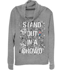 fifth sun where's waldo stand out in a crowd poster cowl neck sweater
