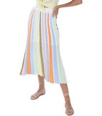 allison new york women's panelled midi skirt
