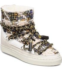 women sneaker engl. tartan ch. l. shoes boots ankle boots ankle boots flat heel multi/mönstrad inuikii
