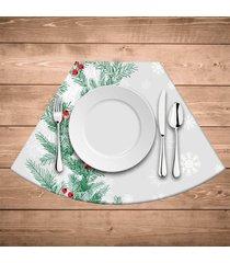 jogo americano para mesa redonda wevans flores natal kit com 6 pçs