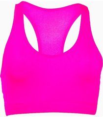 top fitness banana rosa top esportivo básico pink