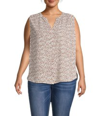 not your daughter's jeans women's plus printed shell top - bobcat - size 3x (22-24)