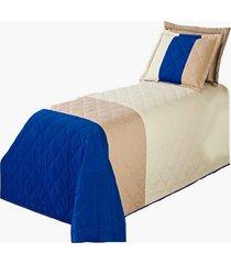 cobre leito mozart kit colcha solteiro 3 peã§as azul - multicolorido - dafiti