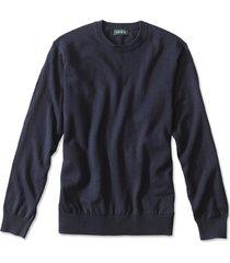 cotton/silk/cashmere crewneck sweater, navy, xx large