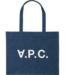 a.p.c. daniel tote bag - indigo - m61446-ial