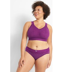 lane bryant women's stretch lace bralette with strappy back 18/20 gloxinia